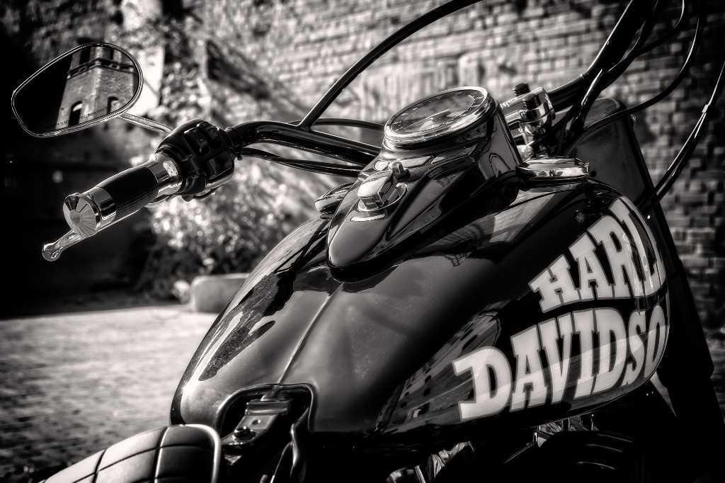 Rallye Harley Davidson à Montecatini Terme en Toscane.
